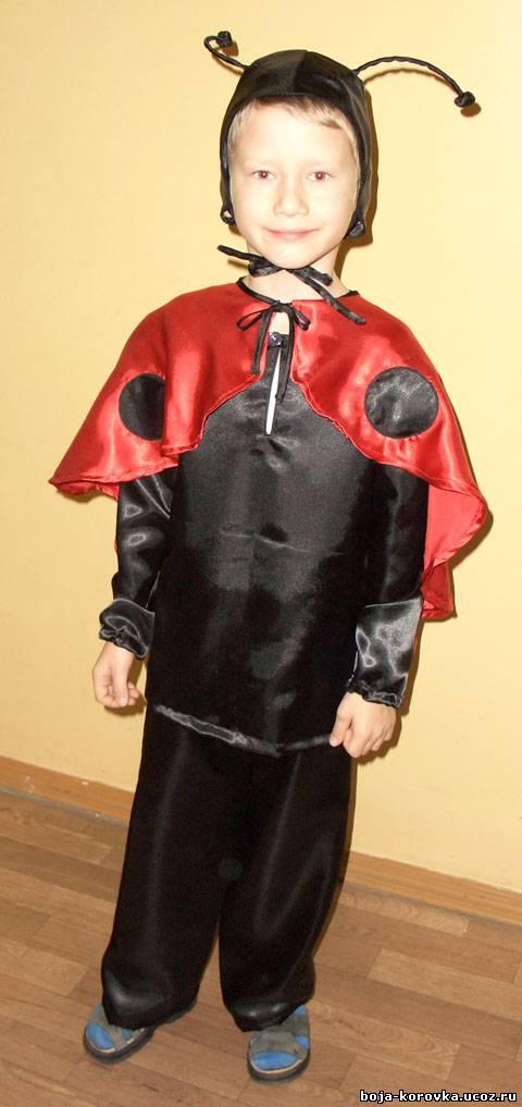 Как сшить костюм божьей коровки для мальчика
